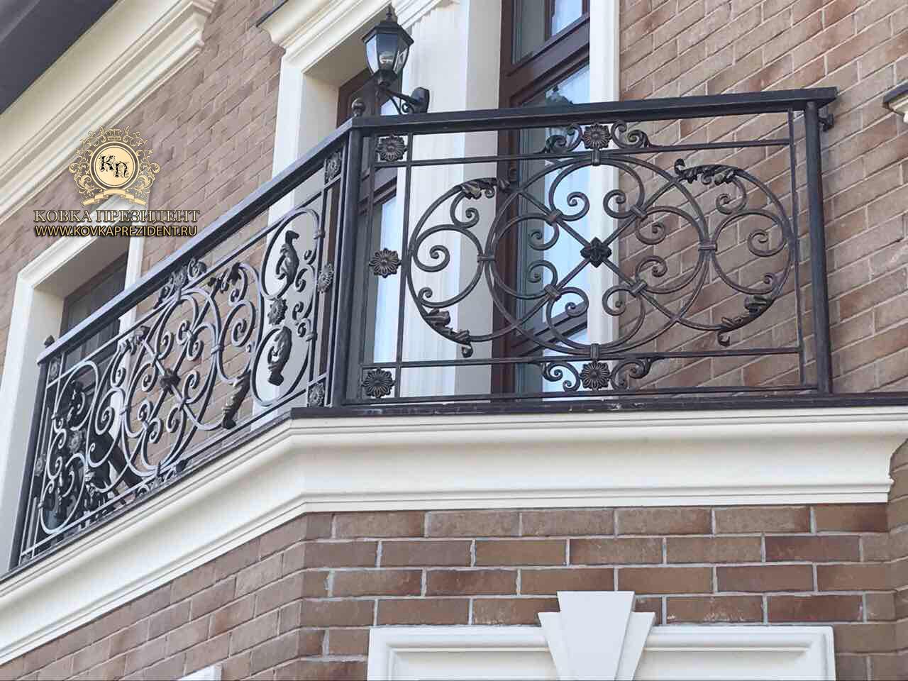 Кованые ограждения для перил балконов фото