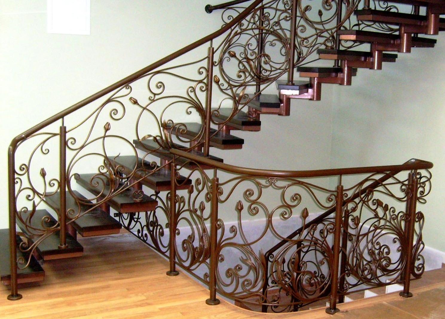 лестницы металлические кованые дома фото вами рецепты