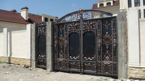 Ворота кованые с калиткой фото цена