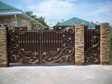 Купить кованые ворота с калиткой