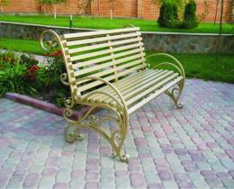 Кованые скамейки в Воронеже №5