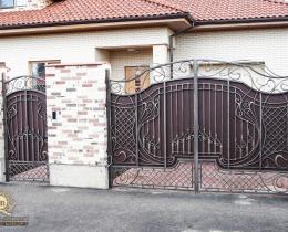 Кованые ворота в Воронеже №181