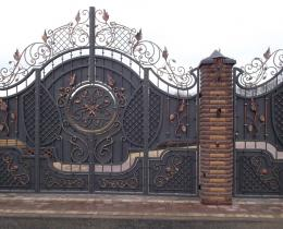 Кованые ворота в Воронеже №24