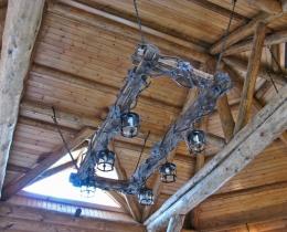 Кованые люстры, фонари, светильники, подсвечники №58