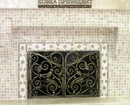 Кованые каминные наборы, дровницы, решетки №36