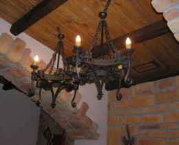 Кованые люстры, фонари, светильники, подсвечники №1