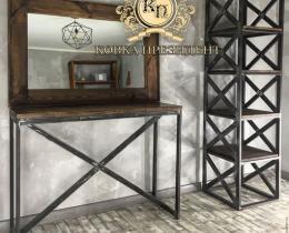 Кованые этажерки, стеллажи, консоли №13