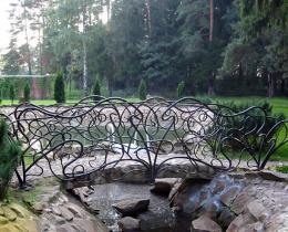 Кованый мостики в Воронеже №1