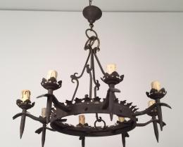Кованые люстры, фонари, светильники, подсвечники №70
