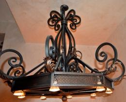 Кованые люстры, фонари, светильники, подсвечники №108