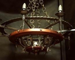 Кованые люстры, фонари, светильники, подсвечники №109