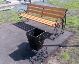 Кованые скамейки в Воронеже №137