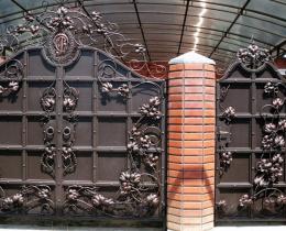 Кованые ворота в Воронеже №59