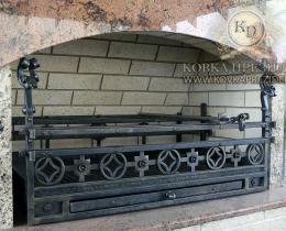 Кованые каминные наборы, дровницы, решетки №23