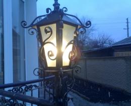 Кованые люстры, фонари, светильники, подсвечники №79