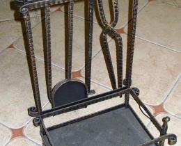Кованые каминные наборы, дровницы, решетки №117
