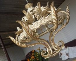 Кованые люстры, фонари, светильники, подсвечники №82