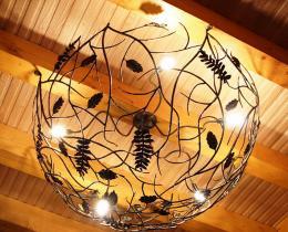 Кованые люстры, фонари, светильники, подсвечники №2