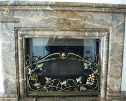 Кованые каминные наборы, дровницы, решетки №25