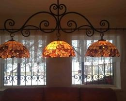 Кованые люстры, фонари, светильники, подсвечники №86