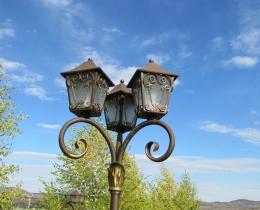 Кованые люстры, фонари, светильники, подсвечники №89