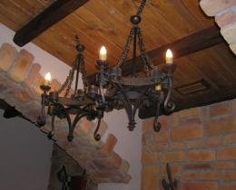 Кованые люстры, фонари, светильники, подсвечники №27