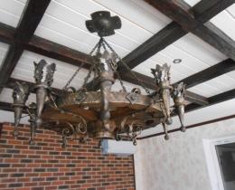Кованые люстры, фонари, светильники, подсвечники №91