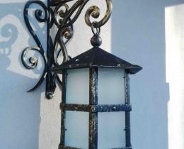 Кованые люстры, фонари, светильники, подсвечники №92