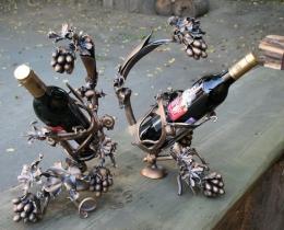 Кованые винницы, подставки под вино №16
