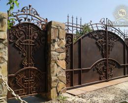 Кованые ворота в Воронеже №42