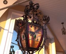 Кованые люстры, фонари, светильники, подсвечники №103