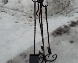 Кованые каминные наборы, дровницы, решетки №130