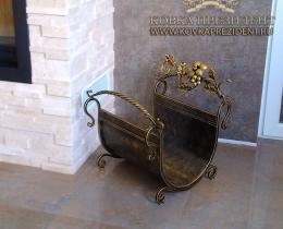 Кованые каминные наборы, дровницы, решетки №28