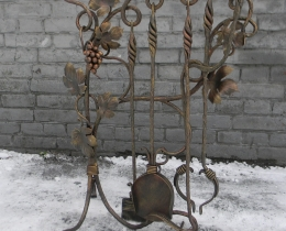 Кованые каминные наборы, дровницы, решетки №131