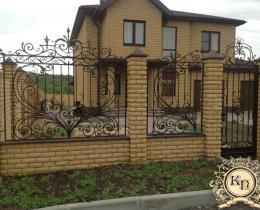 Кованые заборы в Воронеже №3