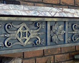 Кованые каминные наборы, дровницы, решетки №12
