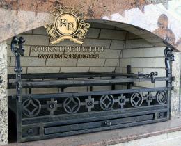 Кованые каминные наборы, дровницы, решетки №13