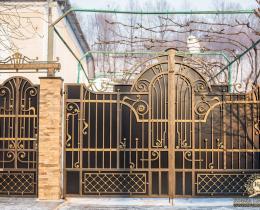Кованые ворота в Воронеже №141