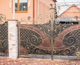 Кованые ворота в Воронеже №142