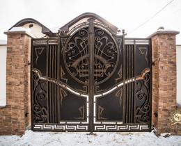 Кованые ворота в Воронеже №143