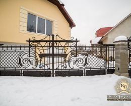 Кованые ворота в Воронеже №145