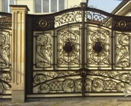 Кованые ворота в Воронеже №213