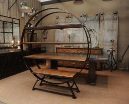 Кованые этажерки, стеллажи, консоли №18