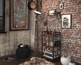 Кованые этажерки, стеллажи, консоли №139