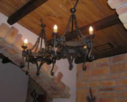 Кованые люстры, фонари, светильники, подсвечники №30
