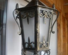 Кованые люстры, фонари, светильники, подсвечники №32