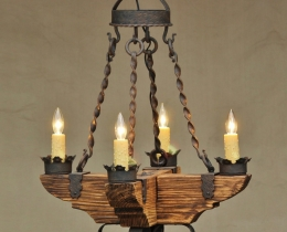 Кованые люстры, фонари, светильники, подсвечники №33