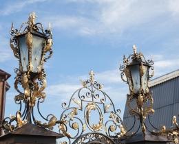 Кованые люстры, фонари, светильники, подсвечники №34