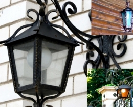 Кованые люстры, фонари, светильники, подсвечники №35