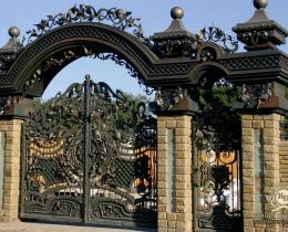 Кованые ворота в Воронеже №209